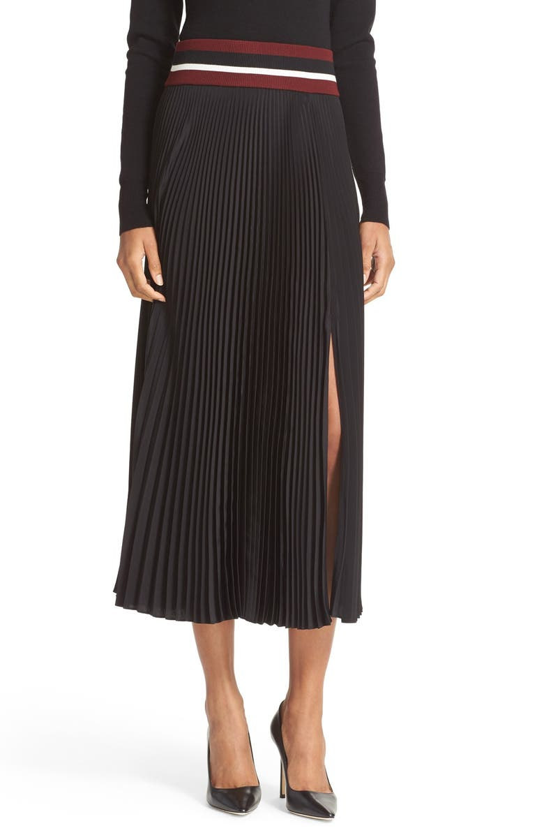 A.L.C. Dave Pleated Skirt, Main, color, 001