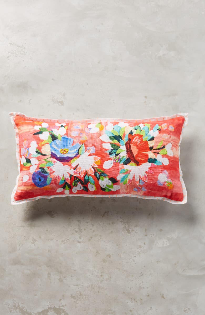 ANTHROPOLOGIE HOME Liv Floral Accent Pillow, Main, color, 650