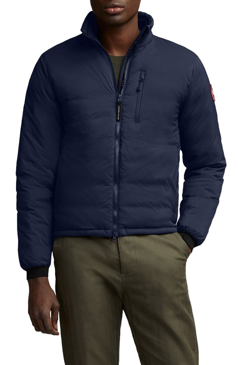 CANADA GOOSE Lodge Packable 750 Fill Power Down Jacket, Main, color, ATLANTIC NAVY