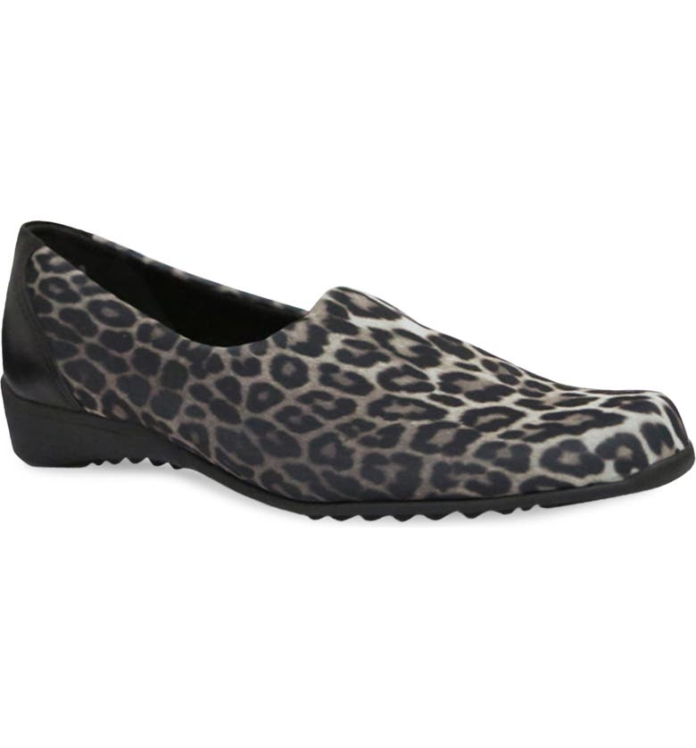 MUNRO 'Traveler' Slip-On, Main, color, LEOPARD PRINT FABRIC
