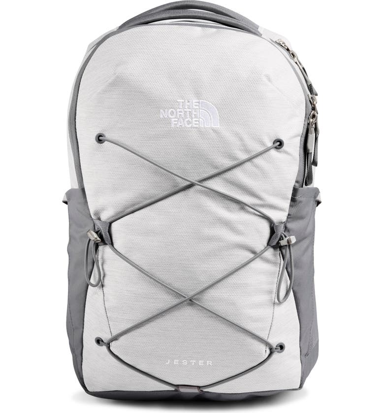 THE NORTH FACE 'Jester' Backpack, Main, color, TNF WHITE MET MLANGE/ MID GREY