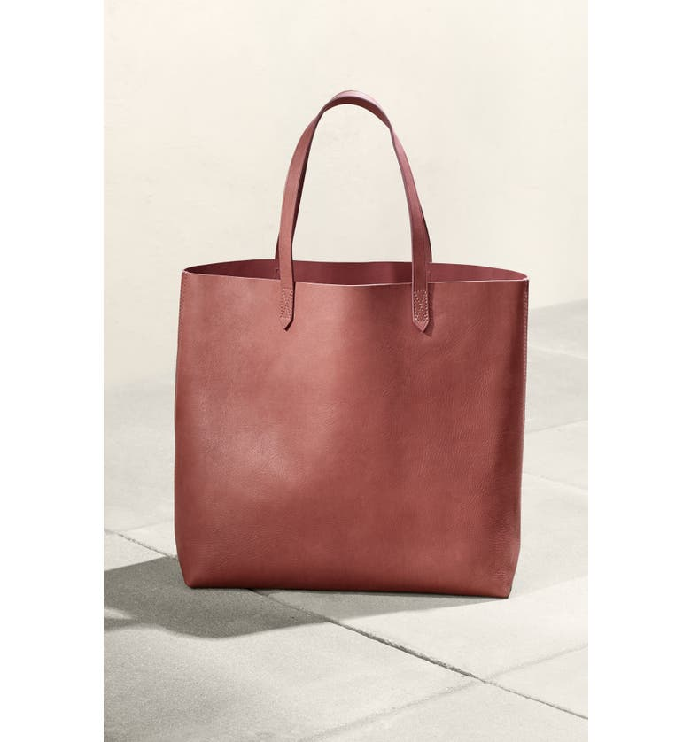 MADEWELL 'Transport' Leather Tote, Main, color, 021