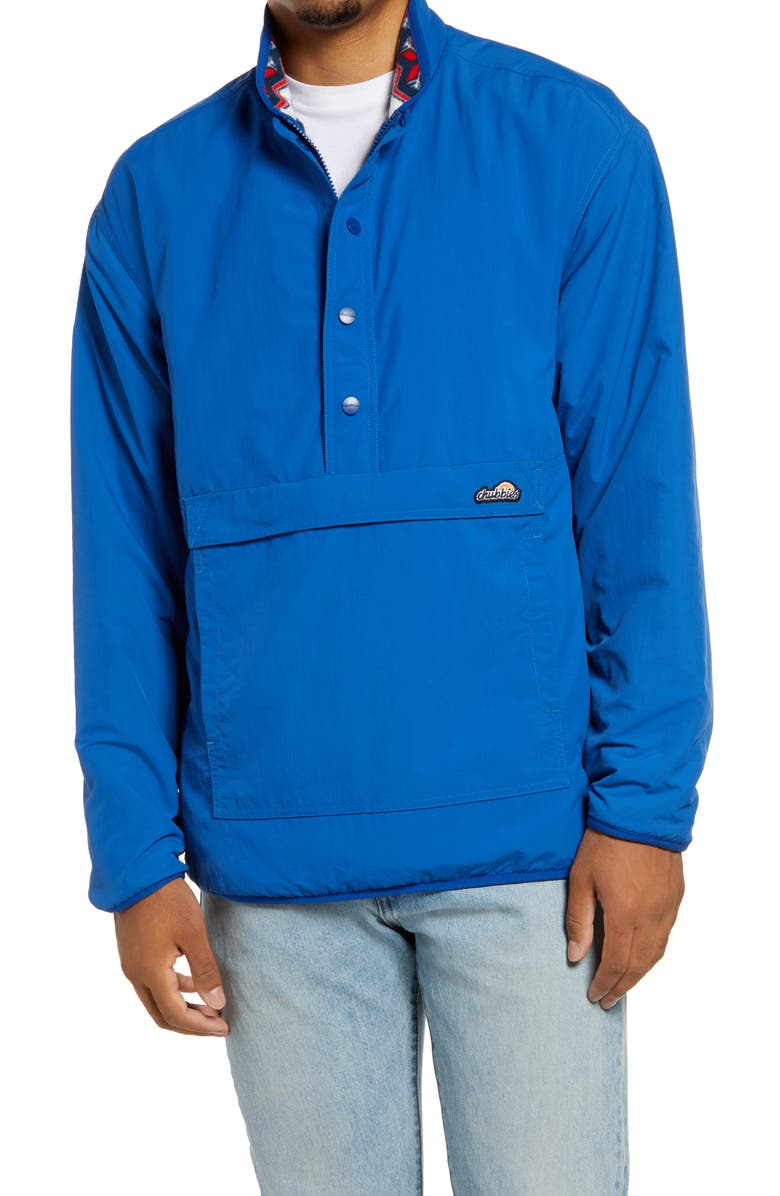 CHUBBIES The New And Improved Reversible Pullover Jacket, Main, color, BRIGHT BLUE
