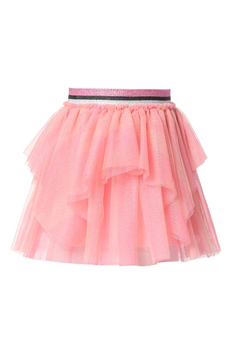 TRULY ME Kids' Tiered Tutu Skirt, Main, color, ORANGE MULTI