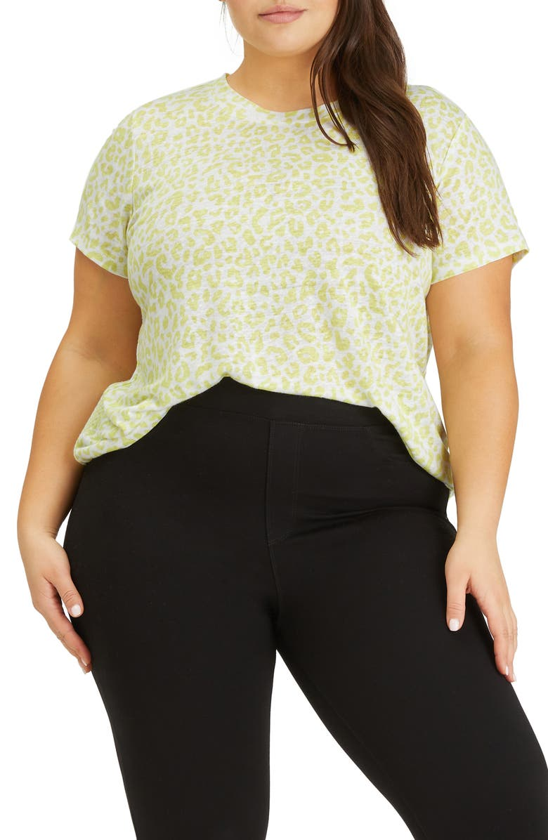 SANCTUARY The Perfect Tee T-Shirt, Main, color, LIME LEO