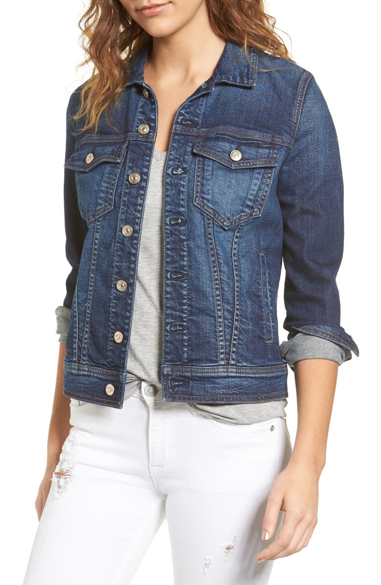 7 FOR ALL MANKIND<SUP>®</SUP> Classic Denim Jacket, Main, color, 400