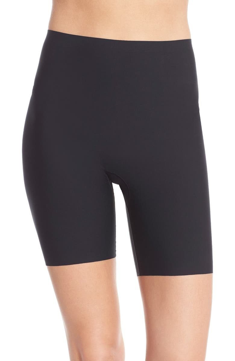 SPANX<SUP>®</SUP> Thinstincts<sup>®</sup> Mid Thigh Shaper Shorts, Main, color, VERY BLACK