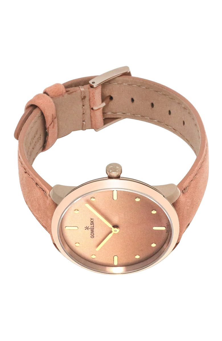GOMELSKY BY SHINOLA Women's Audry Leather Strap Watch, 36mm, Main, color, BROWN