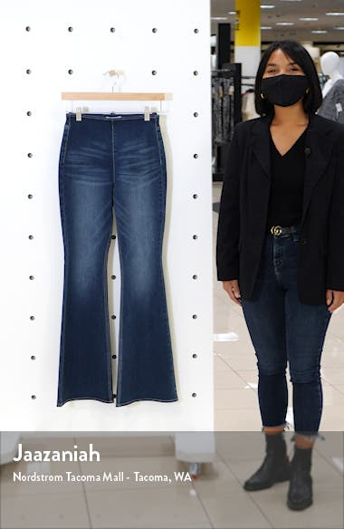 High Waist Flare Pull-On Jeans, sales video thumbnail