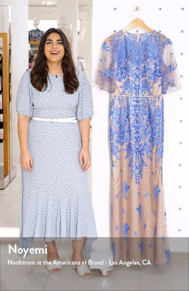 Floral Embroidered Evening Gown, sales video thumbnail