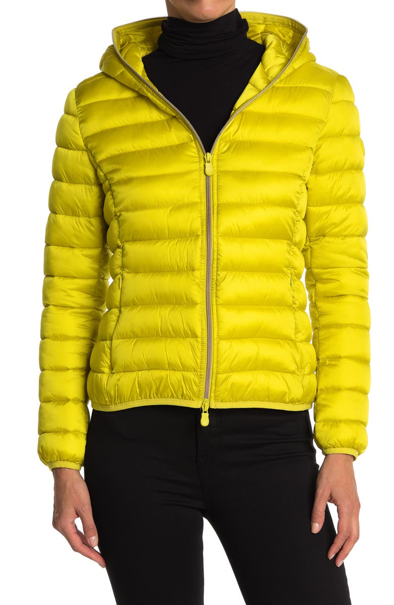 SAVE THE DUCK Alexis Puffer Jacket, Main, color, CITRONELLA GREEN