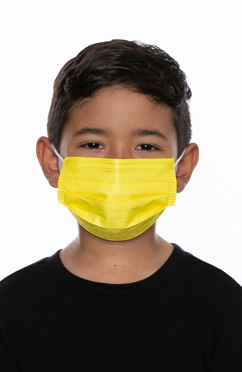MEDIPOP 5-Pack Kids' Disposable Pleated Face Masks, Main, color, RAINBOW