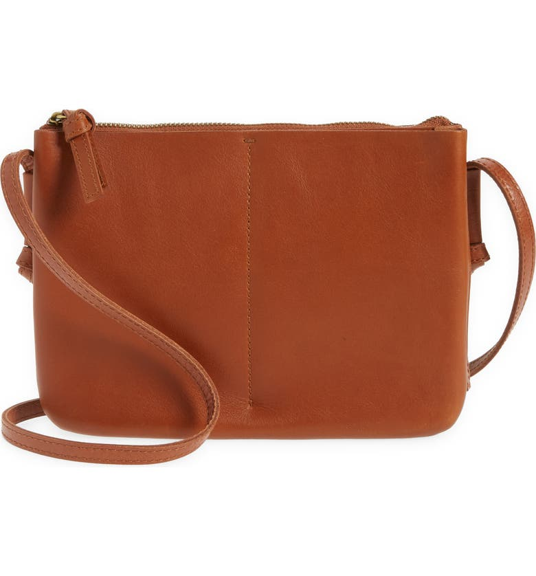 MADEWELL The Knotted Crossbody Bag, Main, color, RUSTIC TWIG