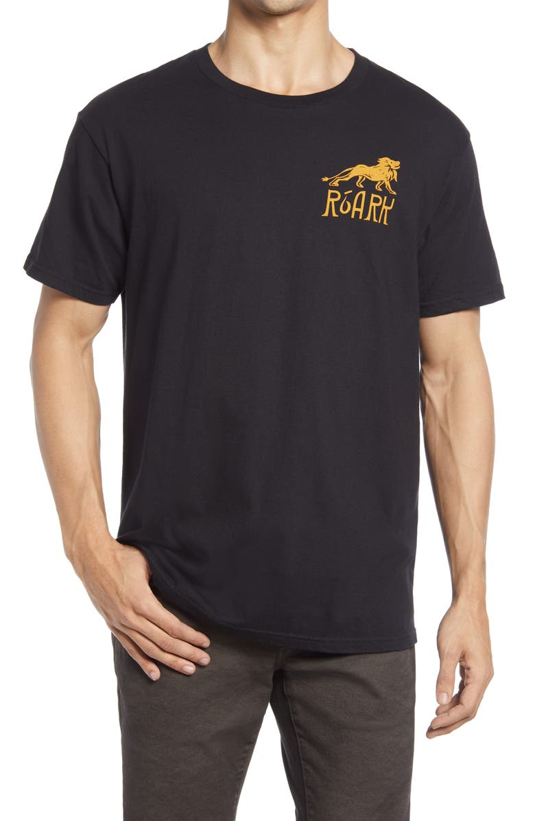 ROARK Maroc Rally Graphic Tee, Main, color, BLACK