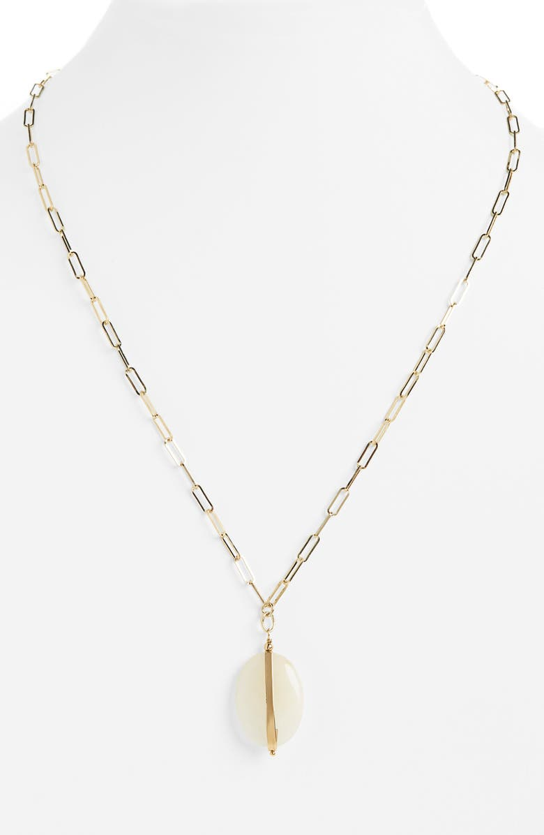 ISABEL MARANT Stone Pendant Necklace, Main, color, 700