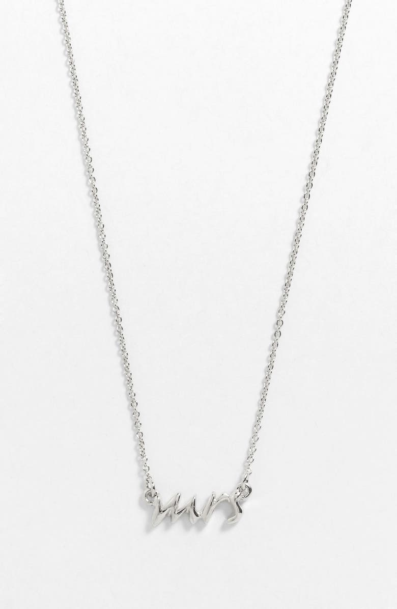 KATE SPADE NEW YORK 'say yes - mrs' necklace, Main, color, 040
