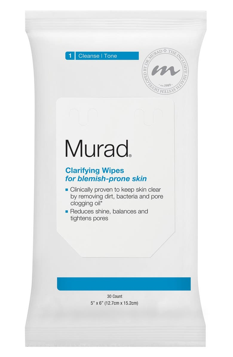 MURAD<SUP>®</SUP> Clarifying Wipes for Blemish-Prone Skin, Main, color, 000
