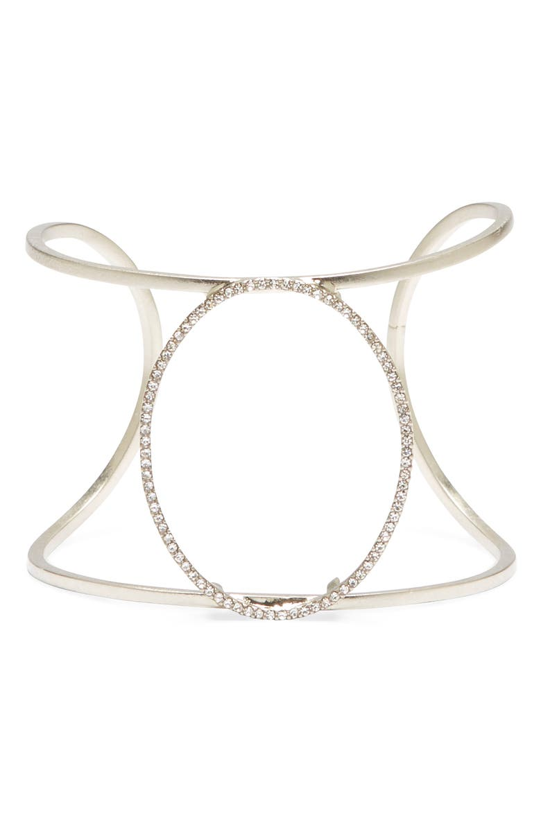 SOLE SOCIETY Pavé Large Cuff Bracelet, Main, color, 041