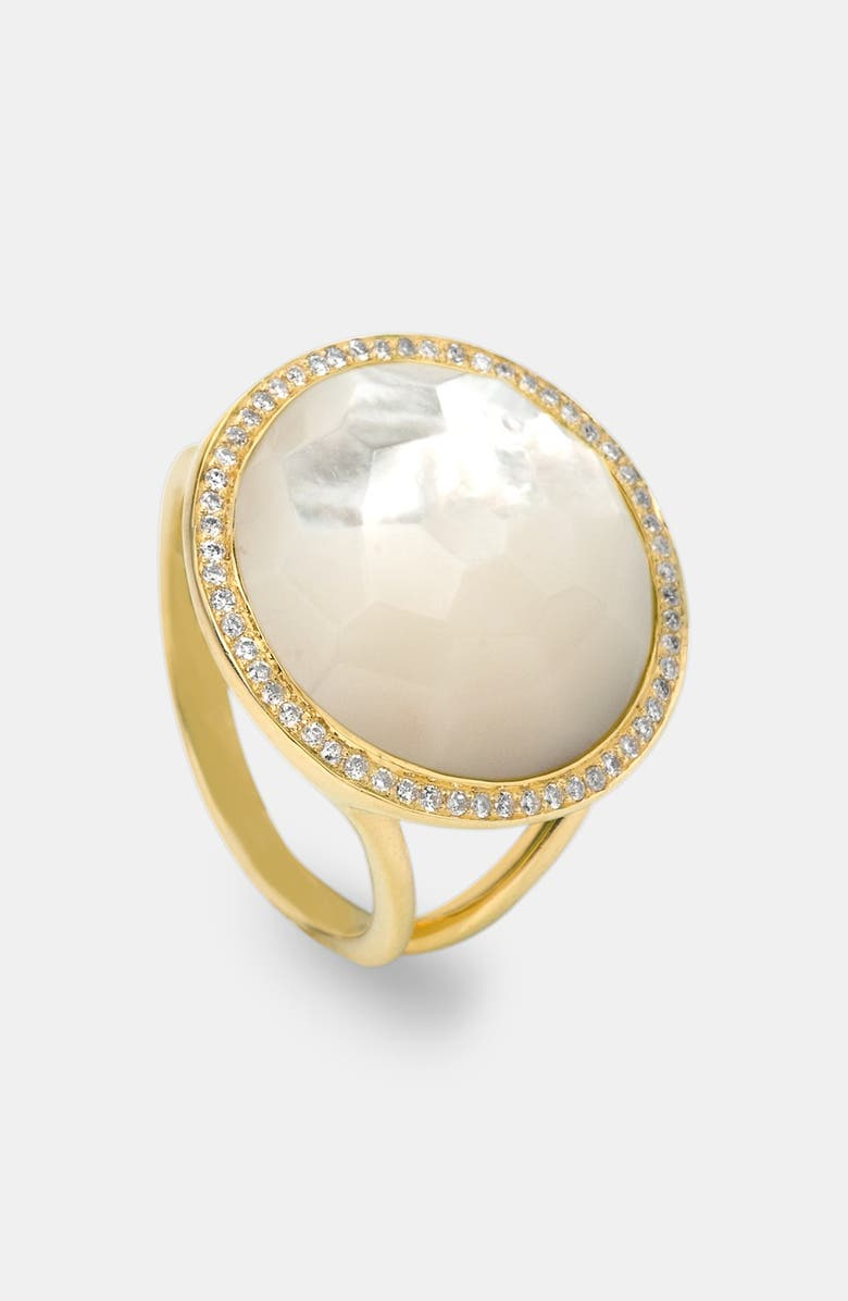 IPPOLITA 'Rock Candy - Lollipop' 18k Gold Ring, Main, color, YELLOW GOLD/ MOTHER OF PEARL