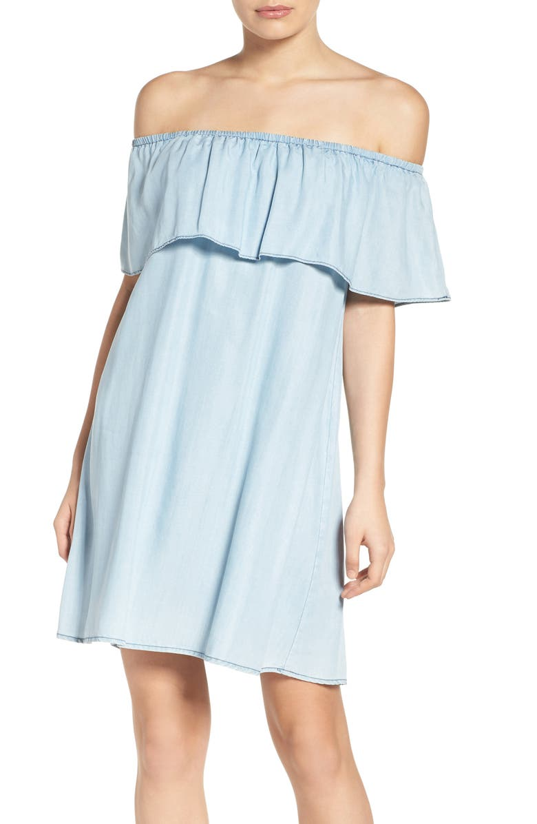 BB DAKOTA Maci Off the Shoulder Dress, Main, color, 472