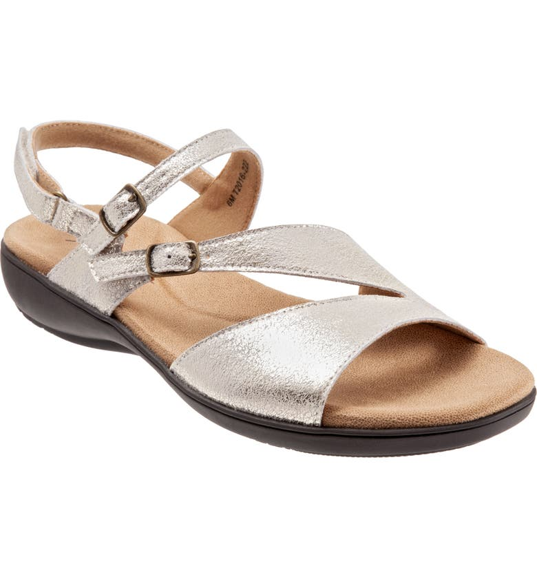 TROTTERS Riva Sandal, Main, color, BRONZE LEATHER