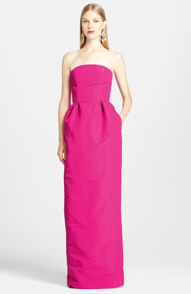 OSCAR DE LA RENTA Silk Column Gown, Main, color, 661