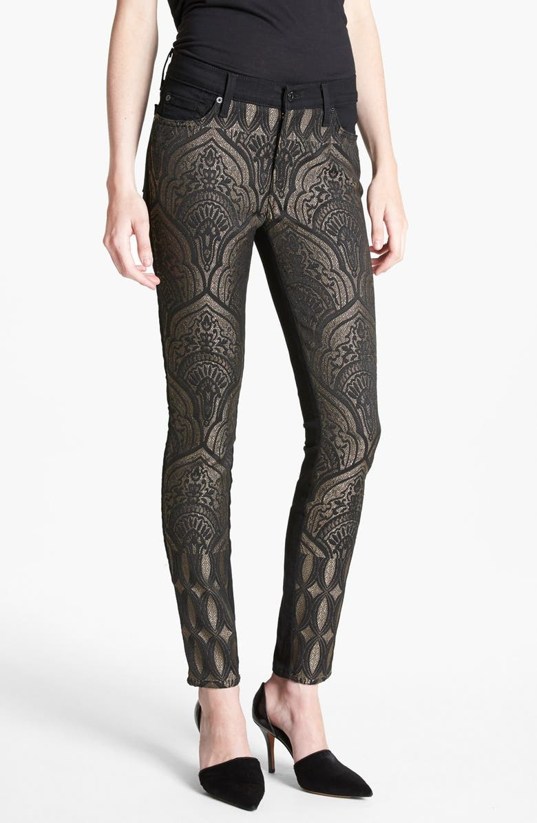 7 FOR ALL MANKIND<SUP>®</SUP> 'The Pieced' Skinny Jeans, Main, color, ART NOUVEAU JACQUARD