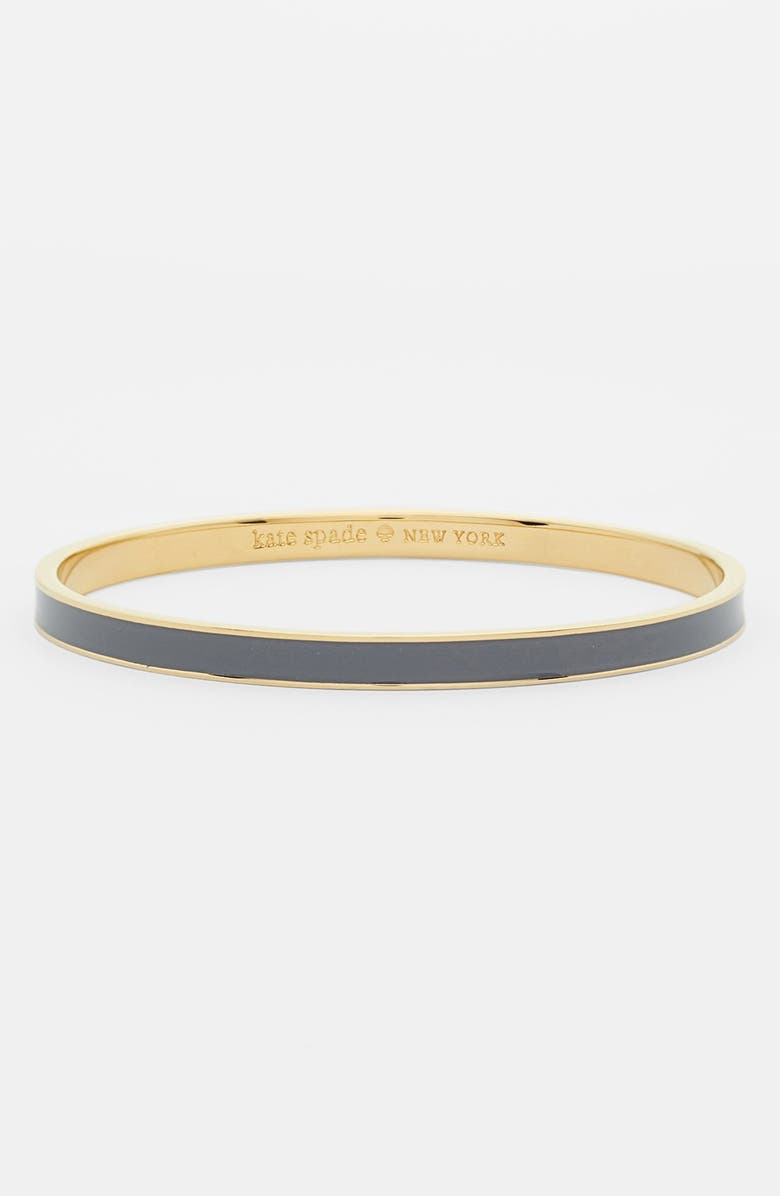 KATE SPADE NEW YORK 'idiom - hot to trot' ultra thin enamel bangle, Main, color, 020