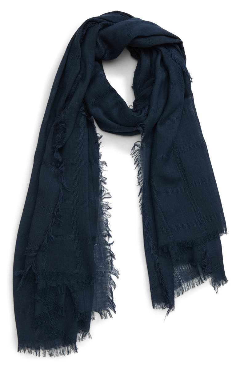 SOLE SOCIETY Textured Scarf, Main, color, 400