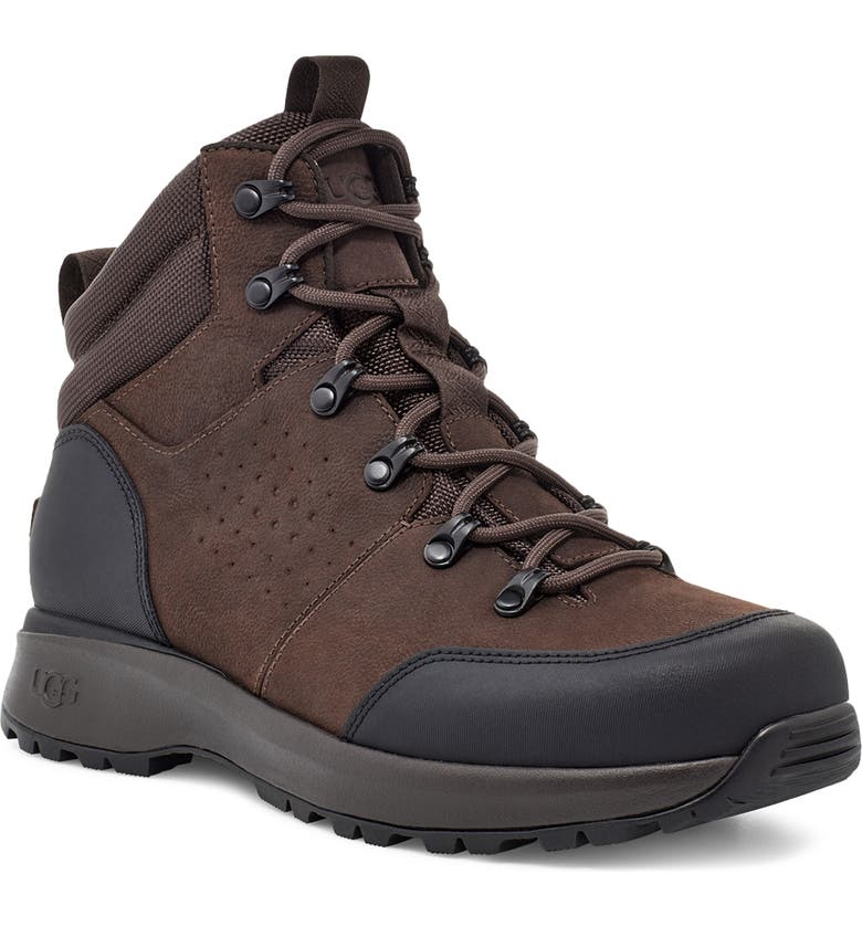 UGG<SUP>®</SUP> Emmett Waterproof Boot, Main, color, CHESTNUT LEATHER