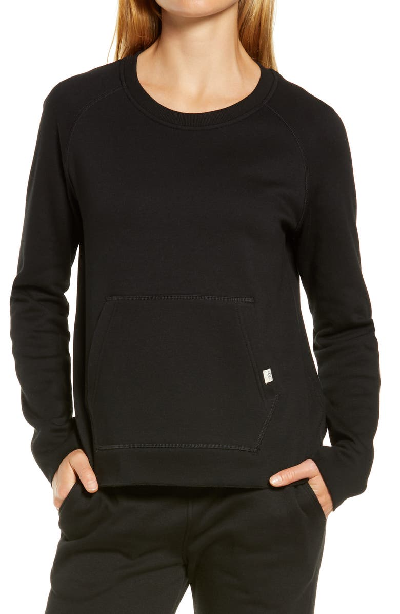 UGG<SUP>®</SUP> Hallidie Fleece Pullover, Main, color, 001