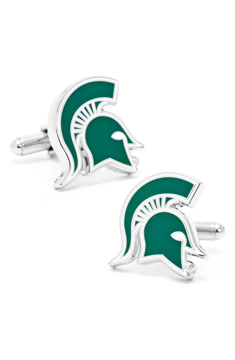 CUFFLINKS, INC. 'Michigan State Spartans' Cuff Links, Main, color, GREEN