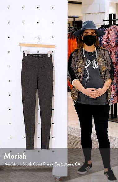 High Waist V-Cut Rib Leggings, sales video thumbnail