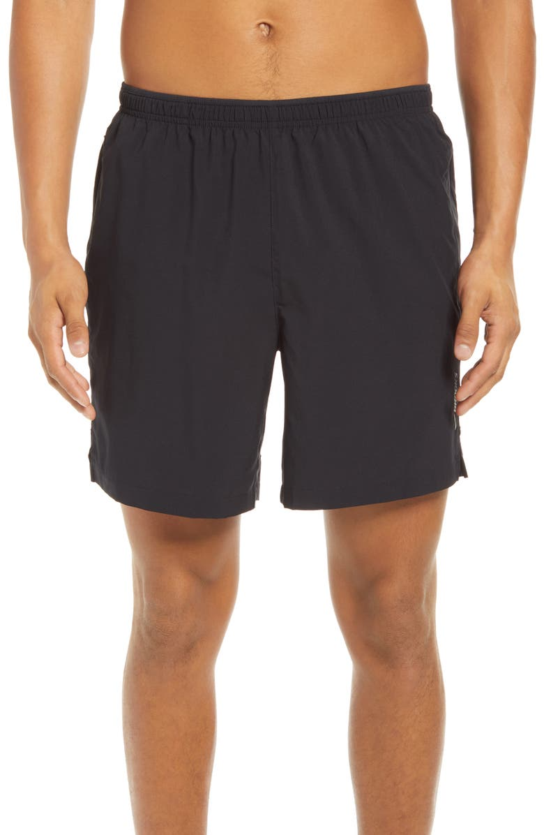 BROOKS Go-To 7-Inch Performance Running Shorts, Main, color, Black