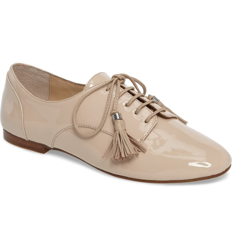 BOTKIER Caia Tassel Derby, Main, color, IVORY PINK PATENT LEATHER