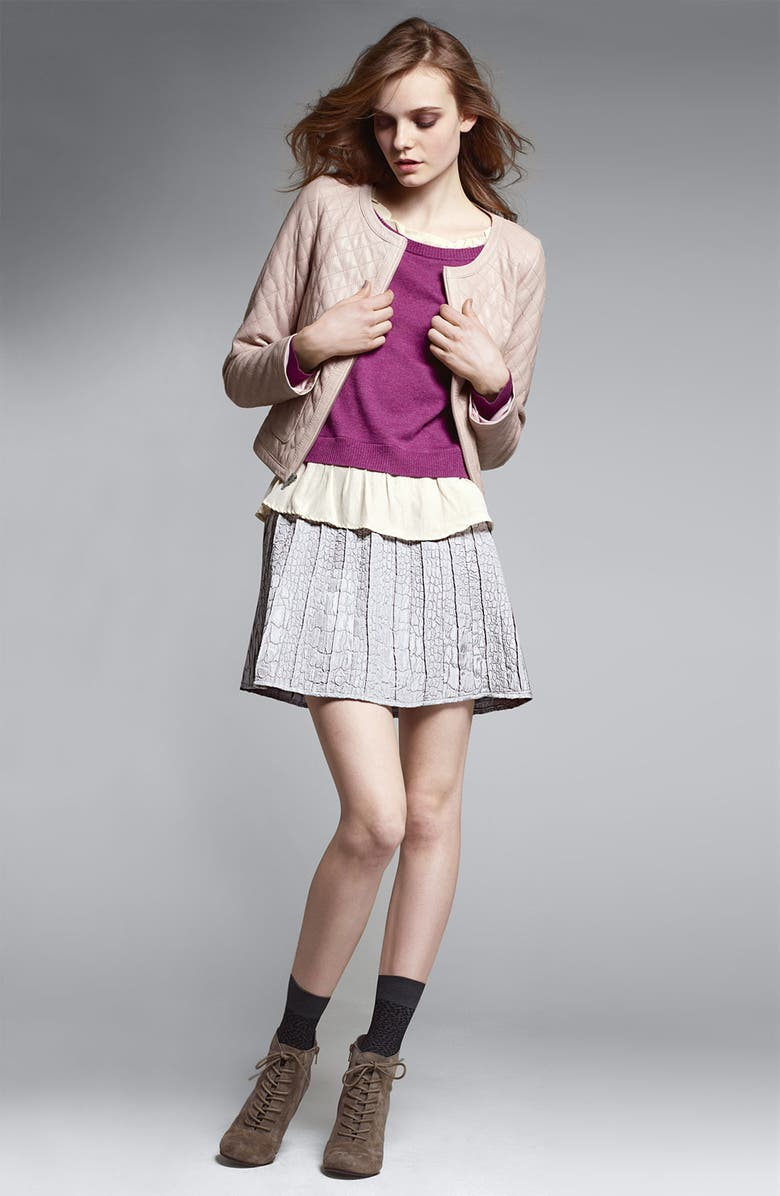 HINGE <sup>®</sup> Chiffon Trimmed Sweater, Main, color, 330
