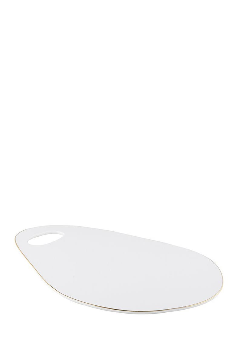CREATIVE BRANDS Oval Cheese Tray, Main, color, WHITE