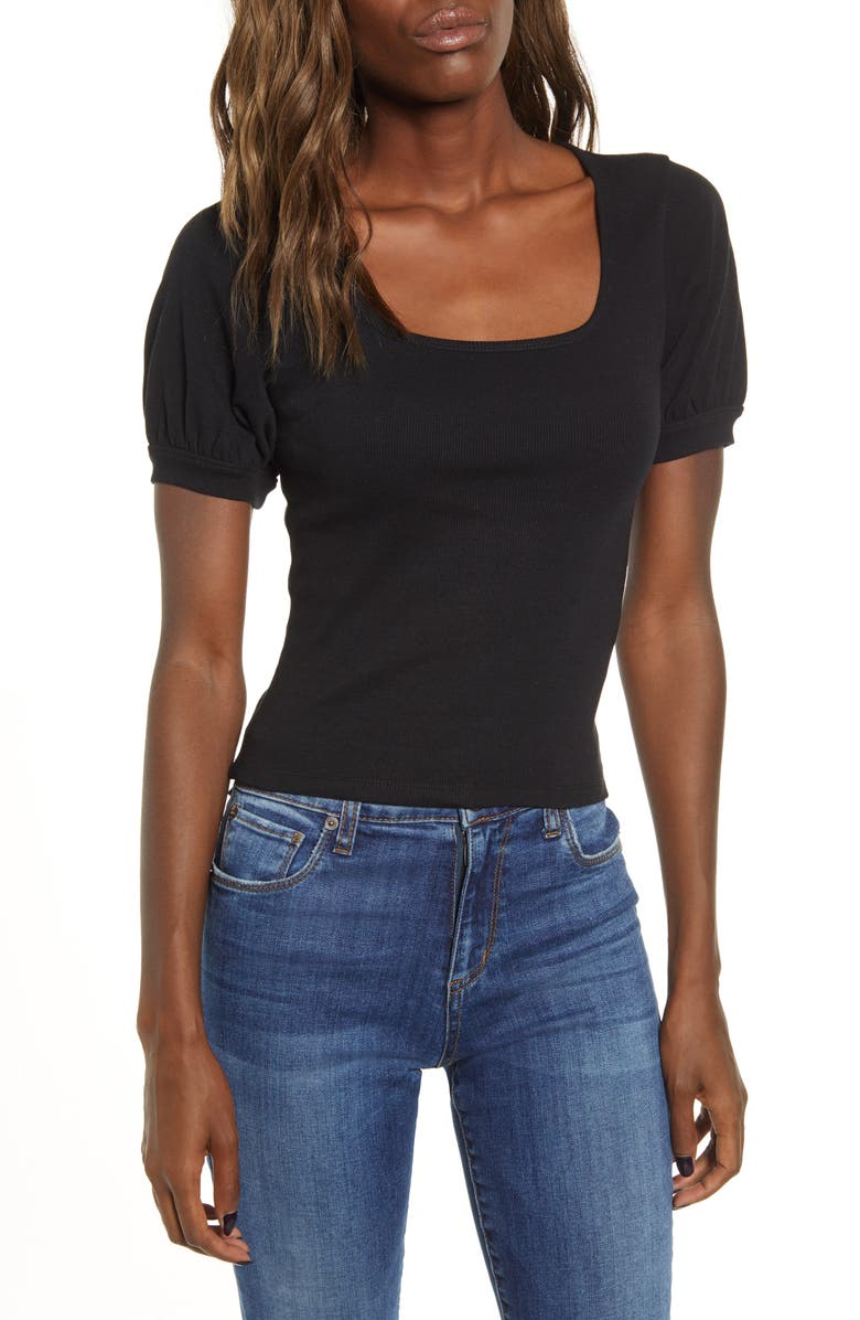 BP. Square Neck Tee, Main, color, 001