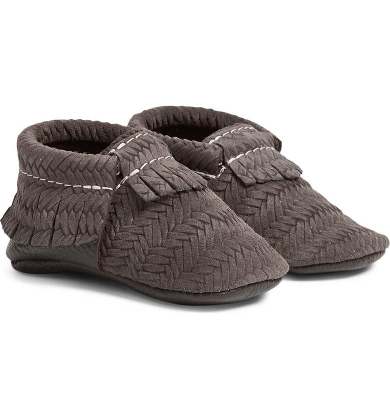 FRESHLY PICKED 'Sweater' Woven Leather Moccasin, Main, color, 020