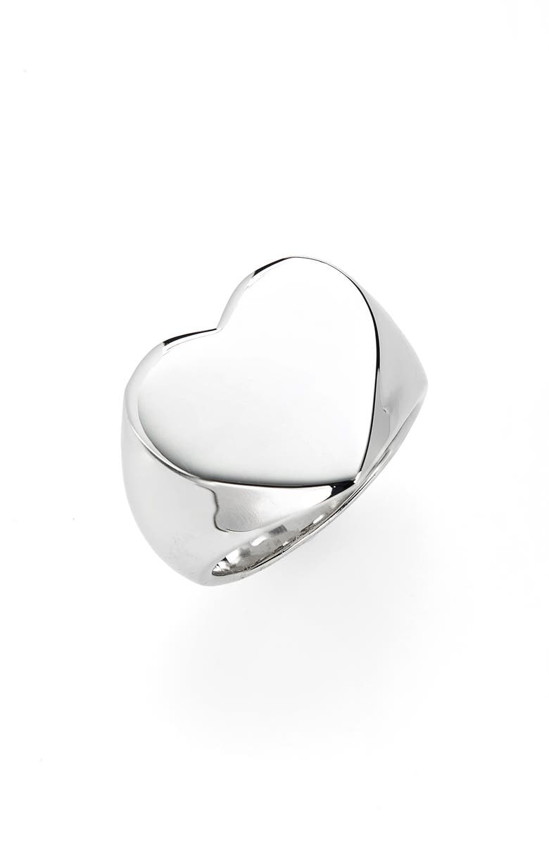 TOM WOOD Heart Signet Ring, Main, color, 040