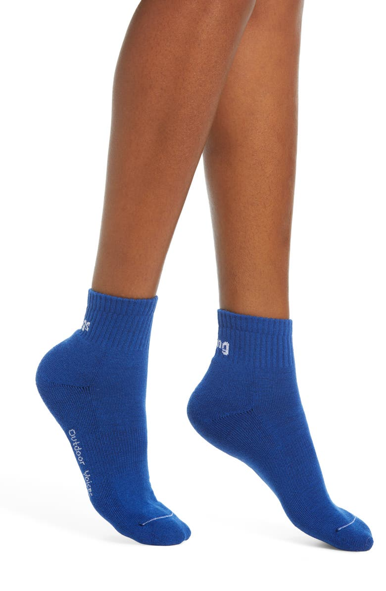 OUTDOOR VOICES Doing Things Ankle Socks, Main, color, OV BLUE