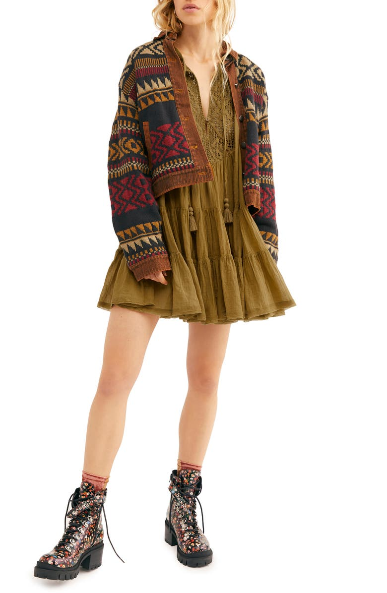 FREE PEOPLE Endless Summer by Free People Something Special Long Sleeve Minidress, Main, color, 205
