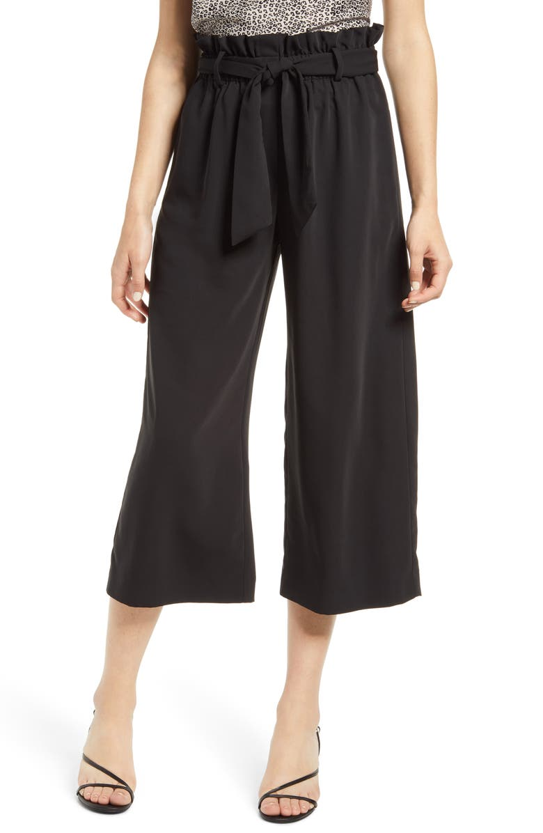 WAYF x BFF Maddie Paperbag Waist Culottes, Main, color, 001