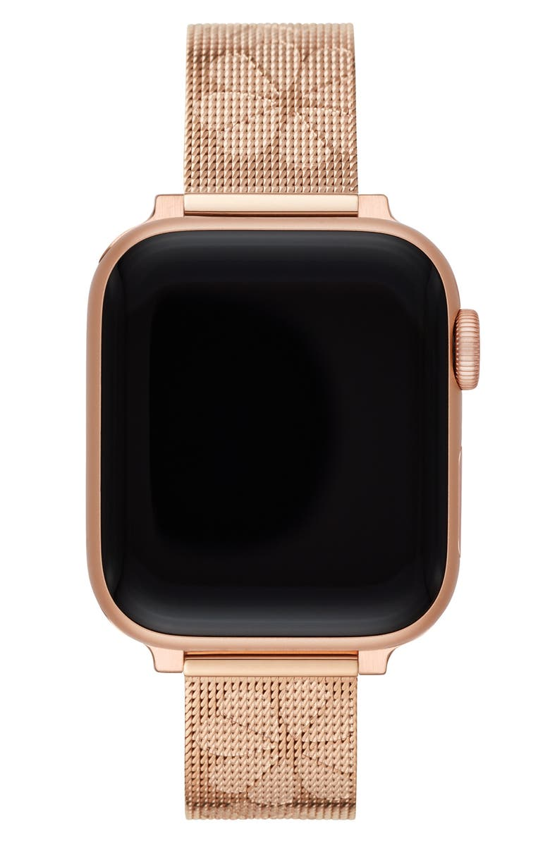 KATE SPADE NEW YORK Apple Watch<sup>®</sup> mesh strap, Main, color, ROSE GOLD