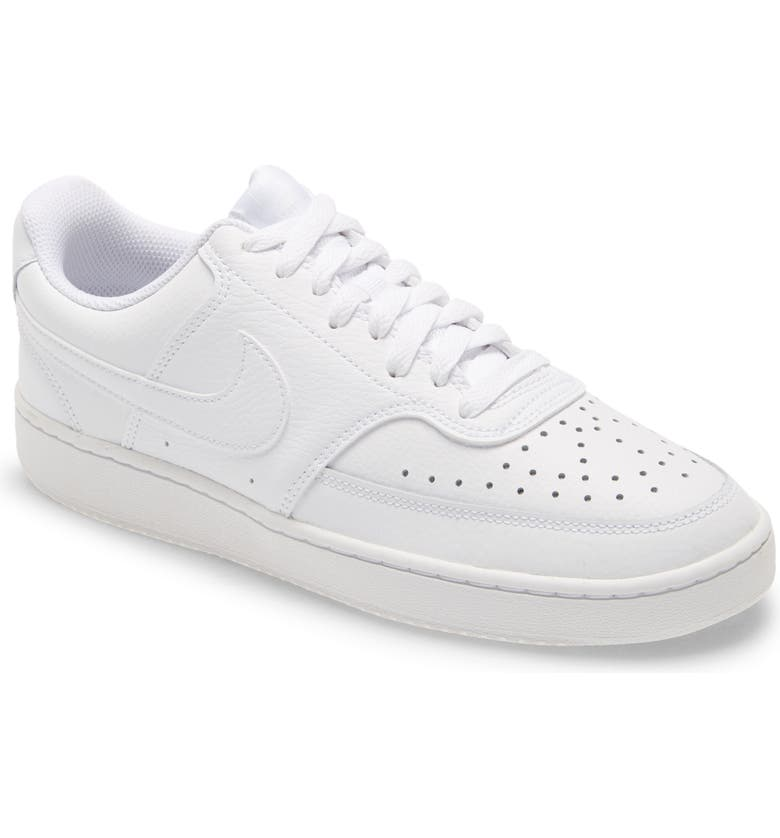 NIKE Court Vision Low Sneaker, Main, color, WHITE/ WHITE/ WHITE