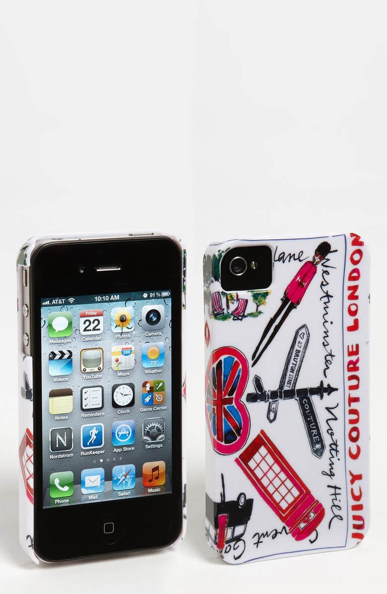 JUICY COUTURE 'London' iPhone 4 & 4S Case, Main, color, 100