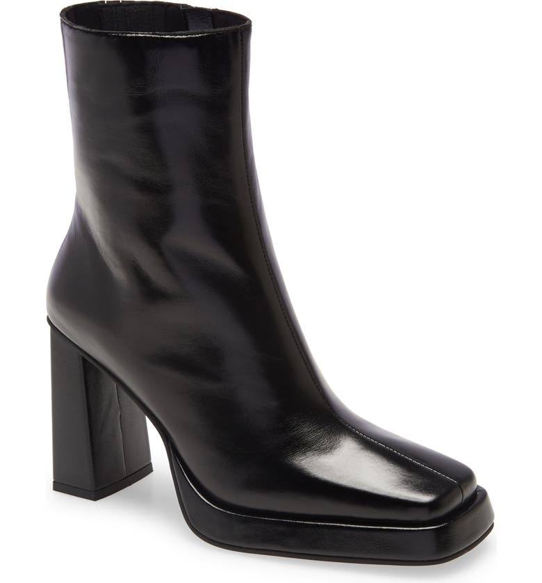 JEFFREY CAMPBELL Maximal Bootie, Main, color, BLACK LEATHER