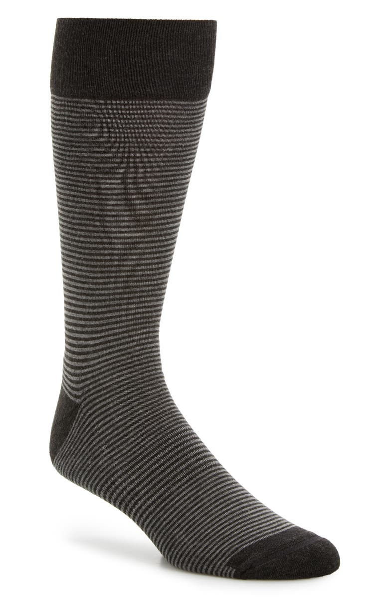 NORDSTROM Men's Shop Feeder Stripe King Size Socks, Main, color, 021