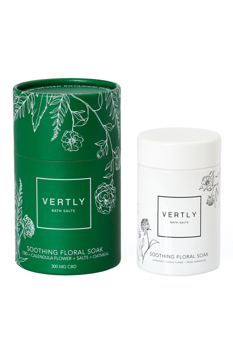 VERTLY Soothing Floral Bath Soak with CBD, Main, color, 000