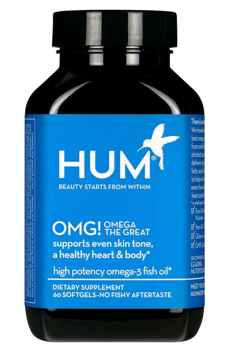 HUM NUTRITION OMG! Omega the Great Fish Oil Supplement, Main, color, 000